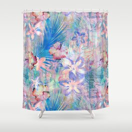 Haleiwa Tropical Pink Shower Curtain