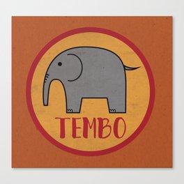 Tembo Elephant Canvas Print