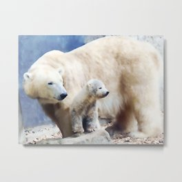 Polar Family Metal Print