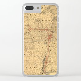 Illinois Central Rail Road 1892 Clear iPhone Case
