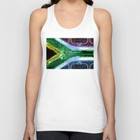 south africa Tank Tops featuring circuit board South Africa (Flag) by seb mcnulty