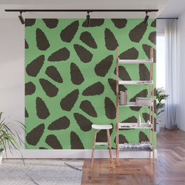 Tree Patterns: Bright Green Pinecones Wall Mural