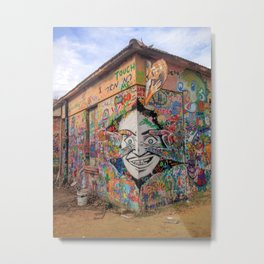 Tel Aviv Street Art / Graffiti Mural / Colorful Metal Print