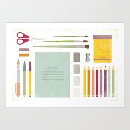 Back to school. Art Print