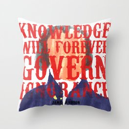 Knowledge Will Throw Pillow