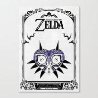 the legend of zelda Canvas Prints featuring Zelda legend - Majora's mask by Art & Be