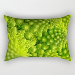 Macro Romanesco Broccoli Rectangular Pillow
