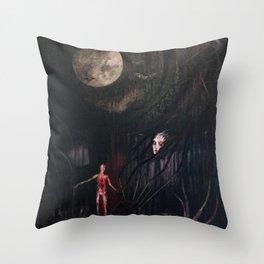 La petite mort de la luna Throw Pillow