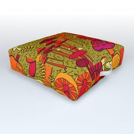 Mushrooms in the Forest Outdoor Floor Cushion
