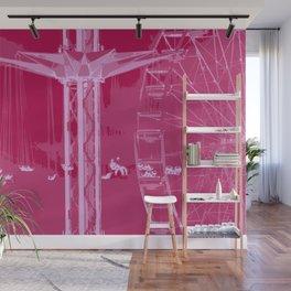 Carnival Rides - Pink Hues Wall Mural