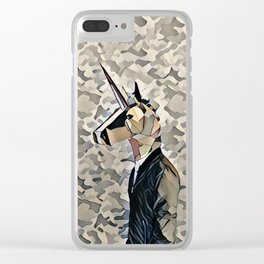 Army unicorn Clear iPhone Case