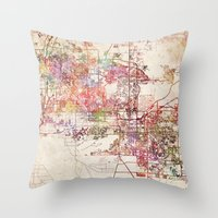 phoenix Throw Pillows featuring Phoenix  by MapMapMaps.Watercolors