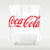 coca cola Shower Curtains featuring Coca Cola by ZenthDesigns