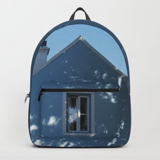 Tree shadow on a house facade Backpack