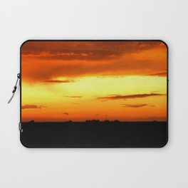 Sunset Over The Fields Laptop Sleeve
