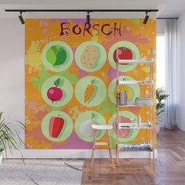 Borsch. Russian traditional dish. Wall Mural