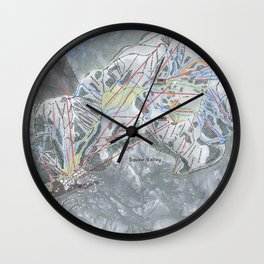 Squaw Valley Resort Trail Map Wall Clock
