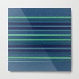 Blue Noise Horizontal Stripe Metal Print