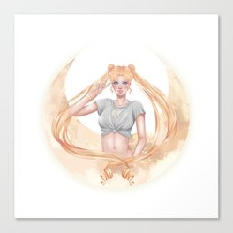 Sailor Moon Child Canvas Print