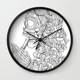 Suicide Sin Lineart Wall Clock
