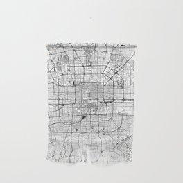 Beijing White Map Wall Hanging
