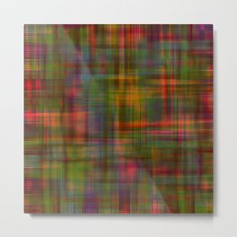 Multicolored Abstract Modern Pattern Metal Print