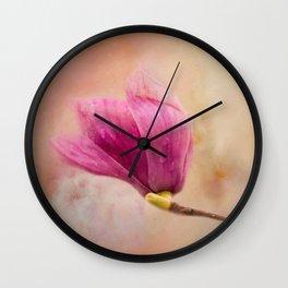 Pink Spring Treasure Wall Clock
