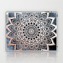 BLUE BOHO NIGHTS MANDALA Laptop & iPad Skin