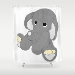 Stuffed Elephant Shower Curtain