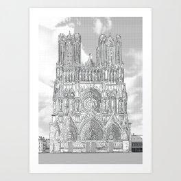 Reims - Cathédrale Notre-Dame Art Print