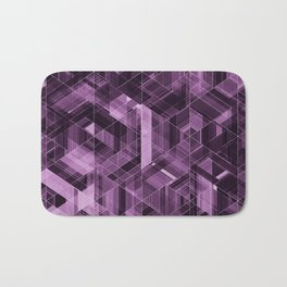 Abstract violet pattern Bath Mat