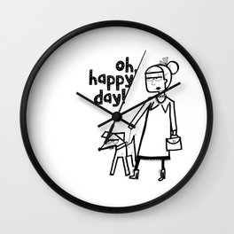 Oh, happy day! Wall Clock