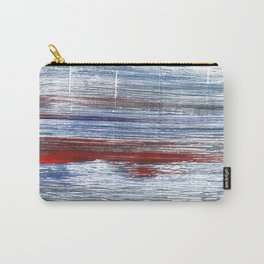 Blue red watercolor Carry-All Pouch