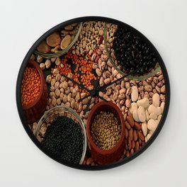 Dried legumes. Wall Clock