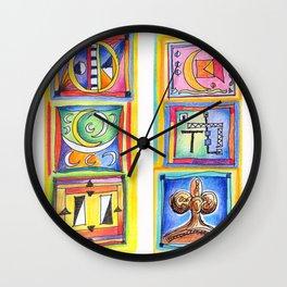 sunday colors Wall Clock