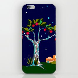 A Pomegranate Tree in Israel at Night, Harvest iPhone Skin
