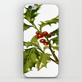 Holly Christmas Red Berry iPhone Skin