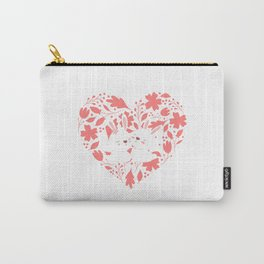 Cute Rabbit Couple Carry-All Pouch