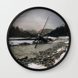 Snoqualmie River Wall Clock