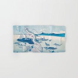 Haku the dragon japanese vintage woodblock mashup Hand & Bath Towel