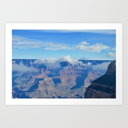 morning clouds forming Art Print