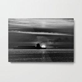 Silhouette... Black and White Metal Print