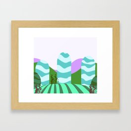 Stripes landscape  Framed Art Print
