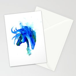 Blue Horse in ink Stationery Cards