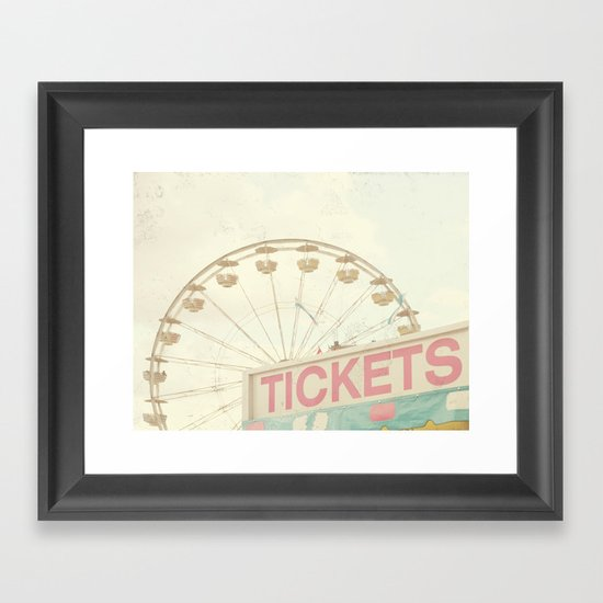 Ticket Booth Framed Art Print