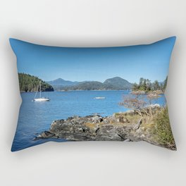 Bays and islands of the northern sea Rectangular Pillow