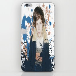 Harry paint splatter iPhone Skin