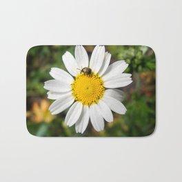 Magic Field Summer Grass - Chamomile Flower with Bug - Macro Bath Mat