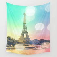 paris Wall Tapestries featuring Paris. by WhimsyRomance&Fun