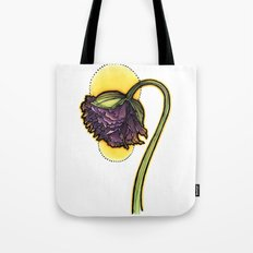 Purple Poppy Tote Bag
